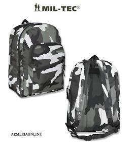 Zaino Zainetto da scuola elementare mimetico camouflage militare sport mil tec