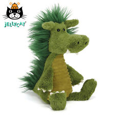 NEW Jellycat Dudley Dragon 36cm Green Soft Toy Snagglebaggle Medium Jelly Cat