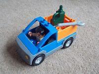 Lego Duplo Truck LKW  Werkstatt Auto 4684 Dump Truck Small mit Mechaniker Figur