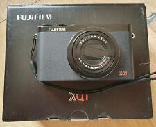 Fujifilm XQ1 Black Digital Compact Camera with leather case