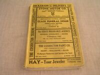 1943 Coshocton Ohio Calkin-Kelly City Directory Phone Telephone Reference Book