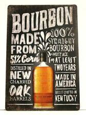 New Bulleit Bourbon Tin Metal Vintage Style Advertising Poster Sign Bar Man Cave