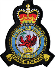 RAF Germany RAFG Command Royal Air Force MOD Crest Embroidered Patch