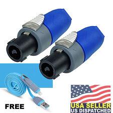 (2x) Neutrik SpeakOn NL2FX 2 Pole Inline FemaleSpeaker Connector ( FREE )