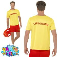Mens 80s Baywatch Beach Licensed Official Fancy Dress Costume Stag Party Medium