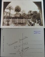 ANTIGUA POSTAL ALCAZAR DE SEVILLA 1933 ESTANQUE DE LOS REYES MAGOS ROISIN CC4007