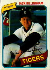 1980 Topps Baseball Jack Billingham Card #603 Detroit Tigers