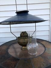 VINTAGE STUNNING PLUME & ATWOOD MFG CO PATENTED AUGUST 14 1888 SALOON OIL LAMP