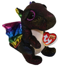 "Ty 6"" ANORA Dragon Beanie Boos Plush Stuffed Animal w/ MWMT's Heart Tags 2018"