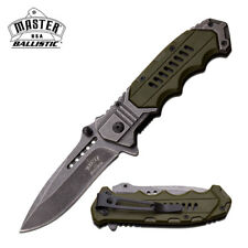 Green Master Ballistic Series Spring Assist Assisted Knife Knives #A041GN