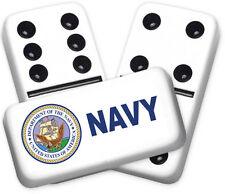 Career Series Navy Design Double six Professional size Dominoes