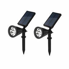 2 Pack Solar Power Spot Light Outdoor LED Garden Lawn Landscape Path Wall Lamp