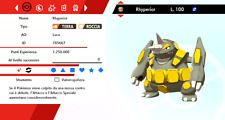 Rhyperior Ultra Shiny Battle Ready Pokemon Sword - Shield, Pokemon Spada - Scudo
