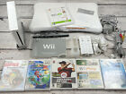 Nintendo Wii Console Bundle Lot w/ Wii Fit Balance Board, Games, Controllers, ++