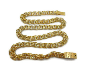 Link 10k Solid Yellow Gold Chain (Tejido Chino).