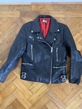 Vintage 60s 70s Lewis Leather Motorcycle Jacket Biker 1963 Aviakit Small 36
