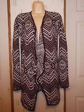 LA Hearts Pac Sun M Maroon Print Lightweight Tunic Open Front Cardigan  Sweater a6151829c