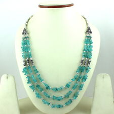 Beaded Necklace 54 Grams Natural Apatite Chips Gemstone