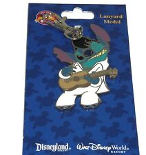 Disney Stitch as Elvis Presley Lanyard Metal Trading Pins Theme Parks New