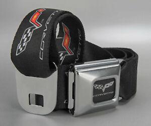 Corvette Seat Belt Style Belt w/ C6 Logo - SIZE XL 698409XL