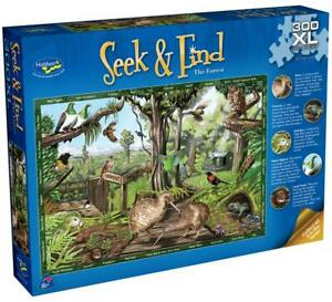 Seek & Find The Forest XL Jigsaw Puzzle, 300 Piece - Holdson Free Shipping!