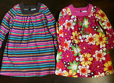 Lot Of 2 Hanna Andersson Dresses Size 6 7 / 120 - Cotton long sleeve