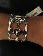 NWT EDDIE BORGO Mens' Silver 925 COMPASS Bracelet