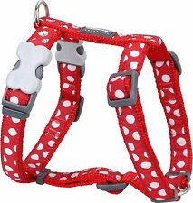 More details for red dingo spot design harness red for dog / puppy   xs - lg   free p&p