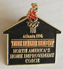 The Home Depot Atlanta 1996 Olympics Home Improvement Coach Pin Badge Rare (F3)