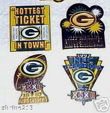 Set of 4 Green Bay Packers Special Event Pins BONUS