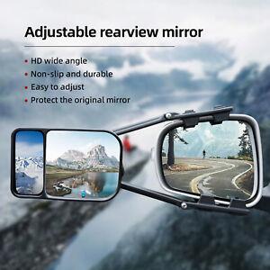 Universal Car Truck Clip-on Trailer Towing Extension Door Side Mirror Adjustable