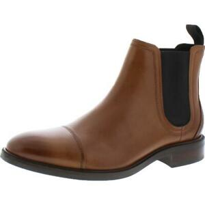 Cole Haan Mens Conway Leather Pull On Waterproof Chelsea Boots Shoes BHFO 4186