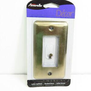 Amerelle Decor Single Rocker Switch Wall Plate - Devon Brushed Brass
