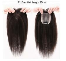 25cm Mono& PU 100% Human Hair Topper Hairpiece Toupee Top Piece For Loss hair