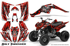 YAMAHA RAPTOR 350 GRAPHICS KIT CREATORX DECALS STICKERS BOLT THROWER RED B