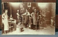 ANTIQUE VINTAGE EDWARDIAN ERA CIGAR  FACTORY RARE OCCUPATIONAL PHOTO TOBACCO