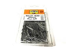 PACK OF 500 G NET 40 X 1.8 MM BULLET HEAD BRIGHT NAIL