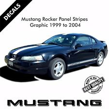 Ford Mustang Rocker Panel Door Side Stripes Decals Stickers Set 1999-2004 |34