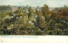 1901-07 Tuck's Print Postcard; Colonial Park First Burial Ground in Savannah GA