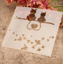 AU Stock Cat Butterfly Layering Stencil Template DIY Scrapbooking Home Decor