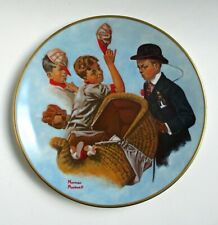 """1978 Norman Rockwell Mother's Day Plate 8 1/2"""" Diameter - Multicolor"""