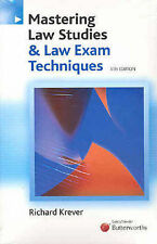 Mastering Law Studies and Law Exam Techniques by Butterworths (Paperback, 2006)
