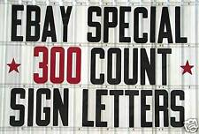 """300 Changeable Flex Letters for Portable Outdoor Marquee Signs 8"""" on 8 7/8"""" back"""
