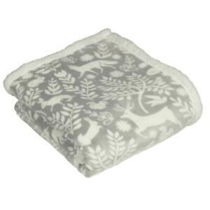 Furn Skandi Woodland Fleece Throw Grey 130 x 150 cm
