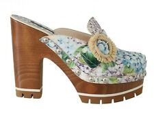 DOLCE & GABBANA Shoes Mules Ortensia Zoccolo Platform EU37 / US6.5 NEW $1000