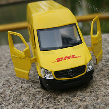 "Mercedes Benz Sprinter Van DHL model cars 5"" Alloy Diecast Open three door Toys"
