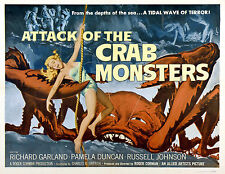 Attack of the crab monsters b movie poster A3 réimpression