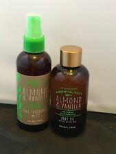 Bath and Body Works Almond & Vanilla Body Oil & Fine Fragrance Mist never used