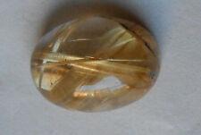 Rutilated Quartz Oval Cabochon 3.4 grams