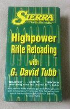 Sierra The Bulletsmiths HIGHPOWER RIFLE RELOADING G. David Tubb VHS Video Tapes